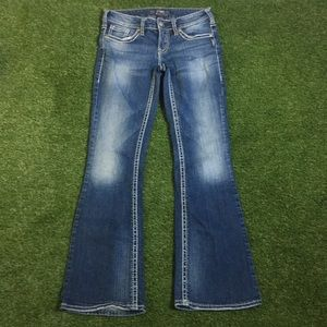 Silver aiko jeans bling 26/31 dark wash stretch